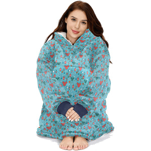 Mickey Mouse Christmas Ornament Pattern  Hoodie Blanket Sweatshirt