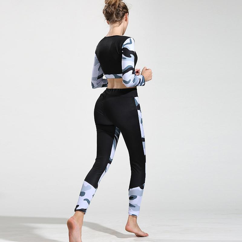 2 Piece Set - Camouflage Yoga Set