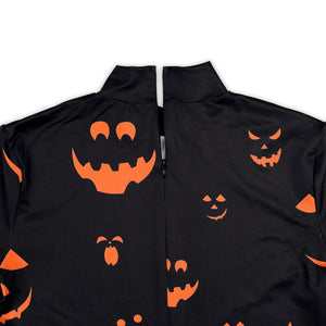 Halloween Skull Pumpkin Long Sleeve Dress For Women
