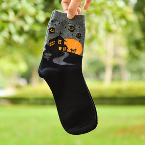 Pumpkin Halloween Casual Tube Socks