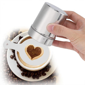 Barista Coffee Stencils - Stainless Steel Coffee Decorating Stencils Template For Latte Cappuccino