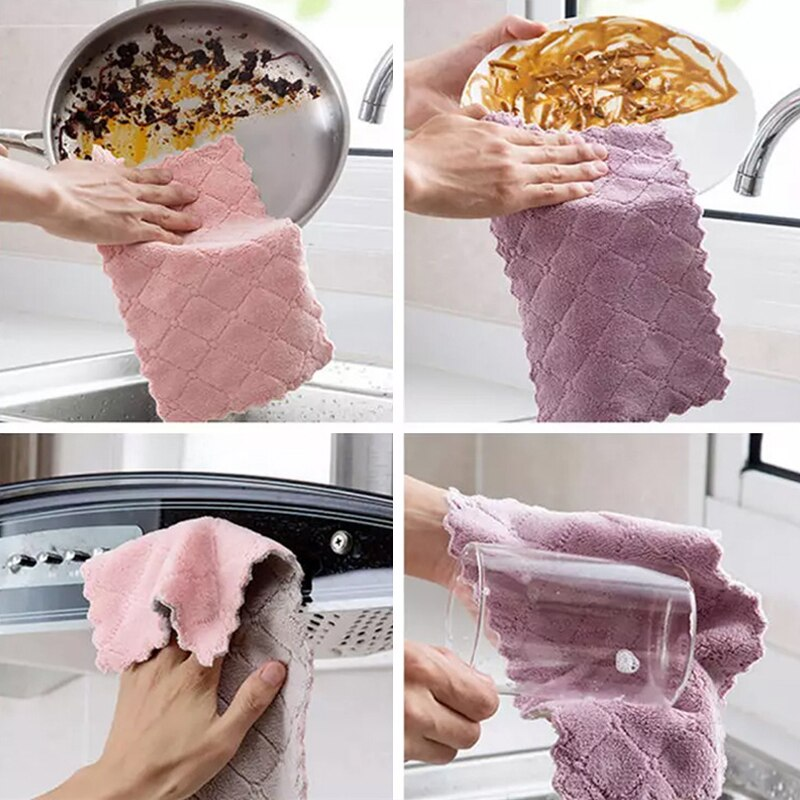 Microfiber Towels For Kitchen - Absorbent Thicker Cloth For Cleaning Tools