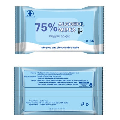 Alcohol Antibacterial Cleaning Wipes