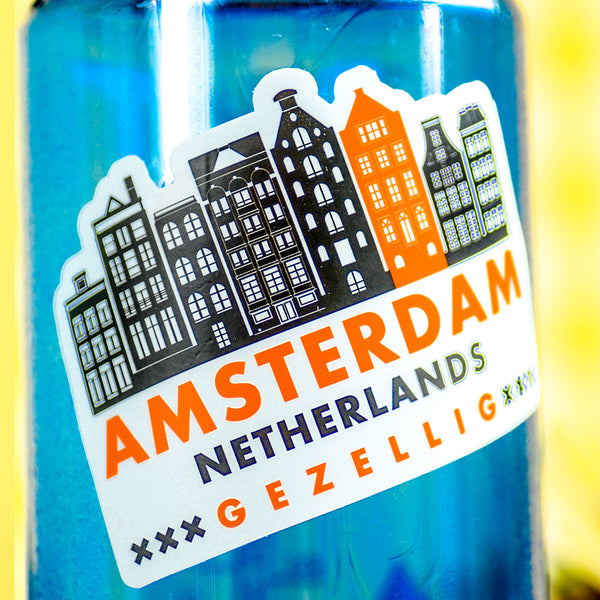 Amsterdam Travel Sticker... Die Cut Sticker