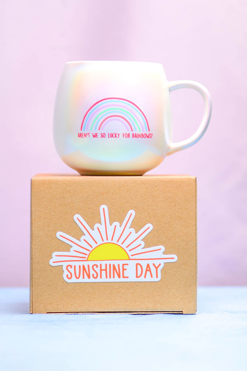 Aren't we so lucky for rainbows?...Coffee Mug