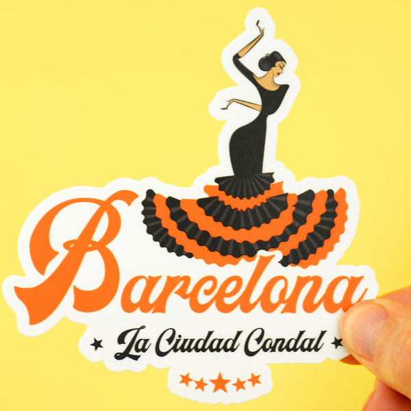 Barcelona Travel Sticker... Die Cut Sticker