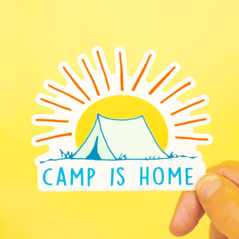 Camp is Home Die Cut Sticker