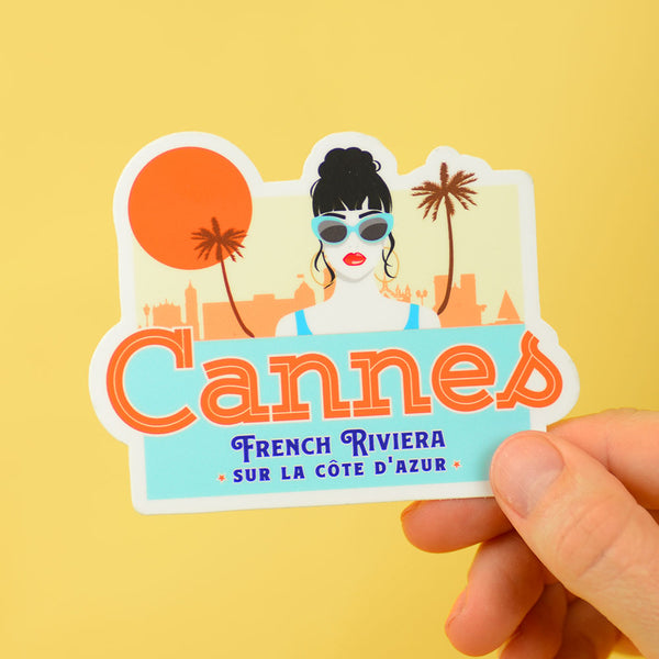 Cannes Travel Sticker... Die Cut Sticker