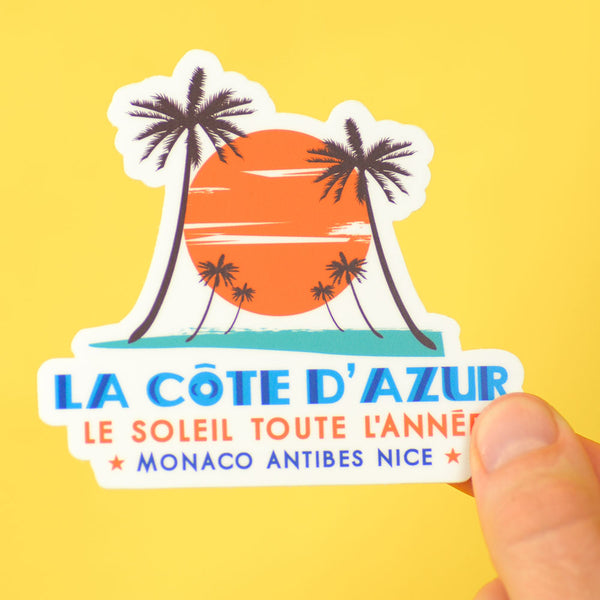 Cote D'Azur... Die Cut Sticker