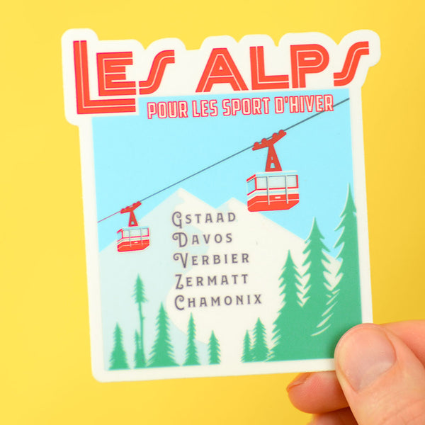 Les Alps Travel Sticker... Die Cut Sticker