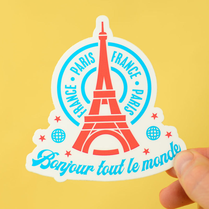 Paris Travel Sticker... Die Cut Sticker