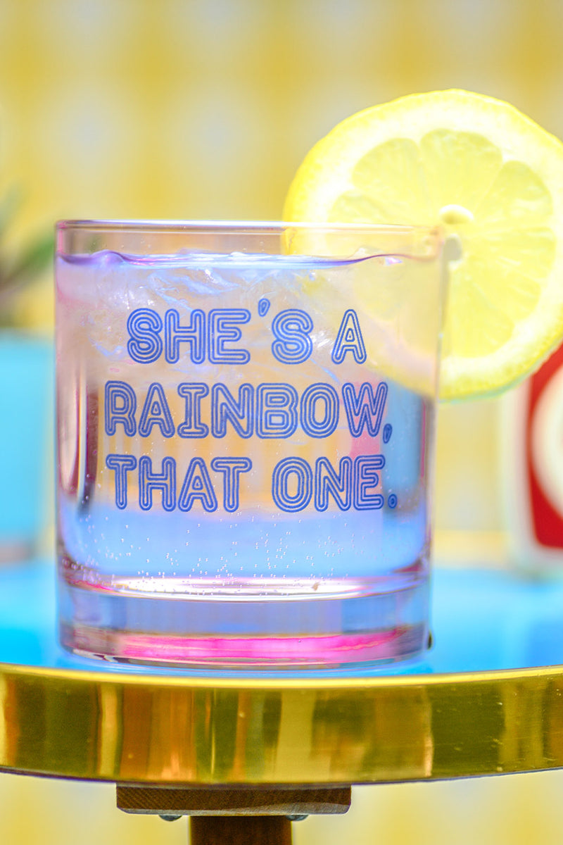 She's a Rainbow... Cocktail Glass