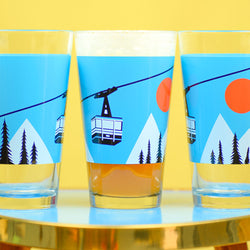 Ski Lover's Pint Glass
