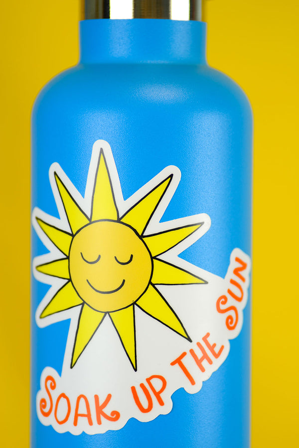 Soak Up The Sun... Die Cut Sticker