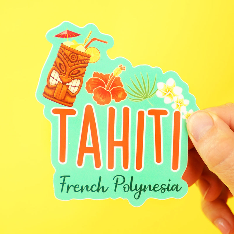 Tahiti Travel Sticker... Die Cut Sticker