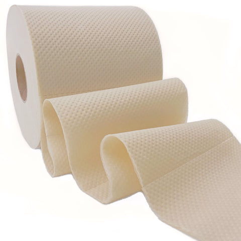 Naturolly unbleached bamboo toilet paper wavy roll