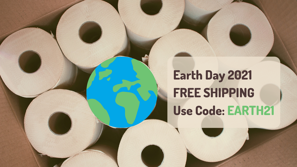 Naturolly Earth Day 2021 Free Shipping Discount Coupon Code unbleached bamboo toilet paper rolls unwrapped