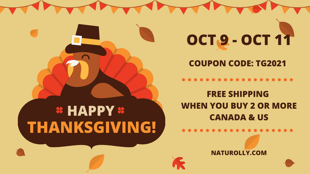 Naturolly Canadian Thanksgiving 2021 Sale Free Shipping October