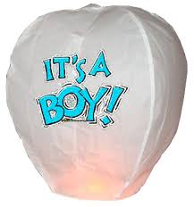 Pyrotex Its A Boy Lantern - SL141