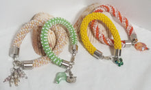 "Load image into Gallery viewer, Crochet Charm Bracelets - ""Spring Fling"""