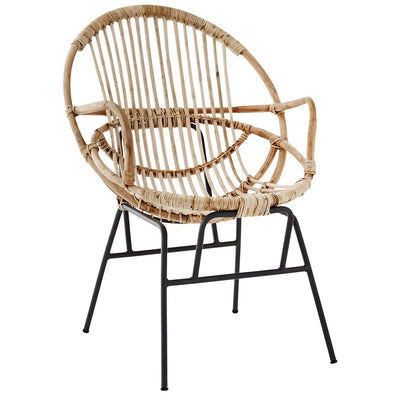 Bamboo chair with armrest Natural