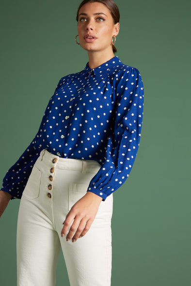 Carina blouse pablo dots voor