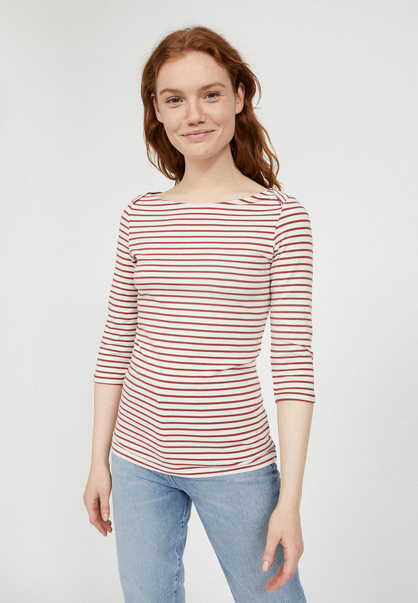 Dalenaa stripes Rosewood-Off White