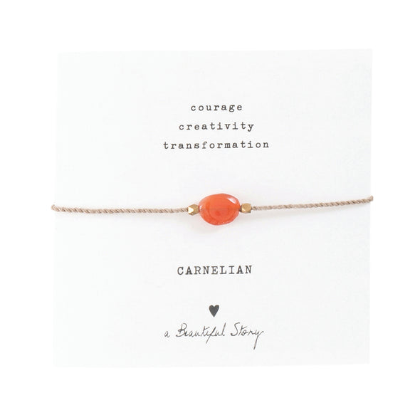 Gemstone card Carnelian