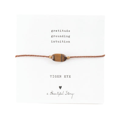 Gemstone card Tiger eye