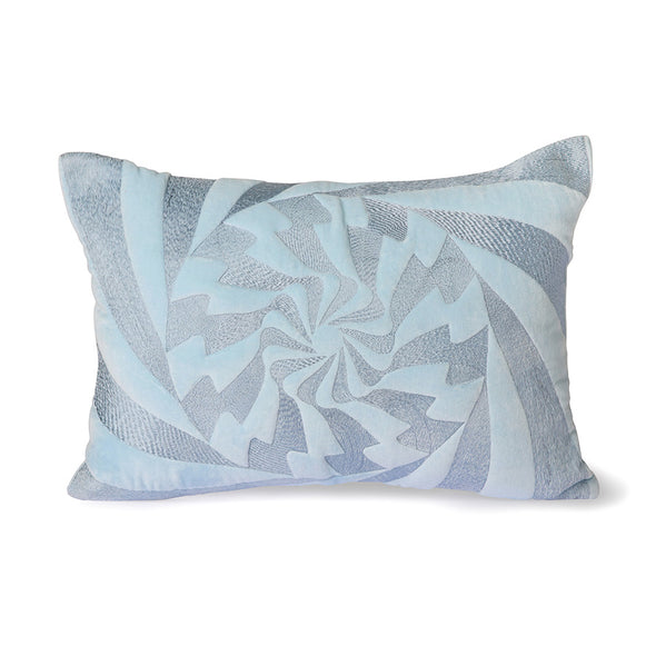 Graphic embroidered Cushion Ice Blue (35x50) Ice Blue