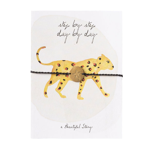 Jewelry Postcard Leopard Gold