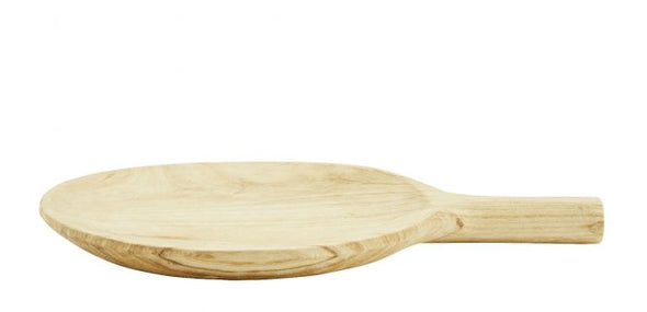 Round wooden serving dish  Natural