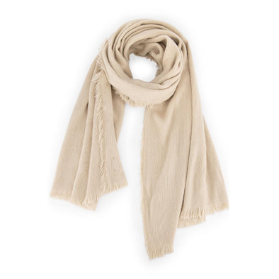 Stormie Scarf Cotton White