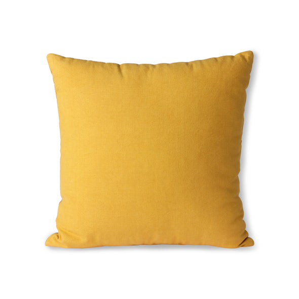 Striped Velvet Cushion Ochre/Gold (45x45) Ochre/Gold