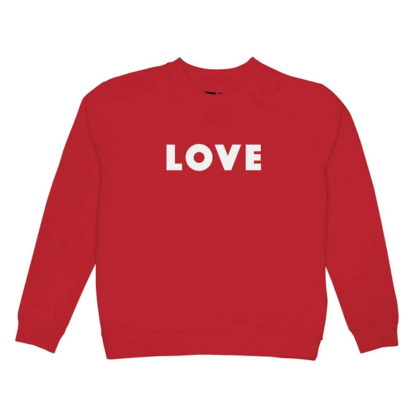 Sweatshirt, LOVE Red
