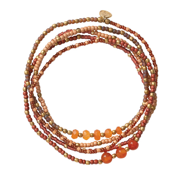Together Carnelian Gold Bracelet Carnelian