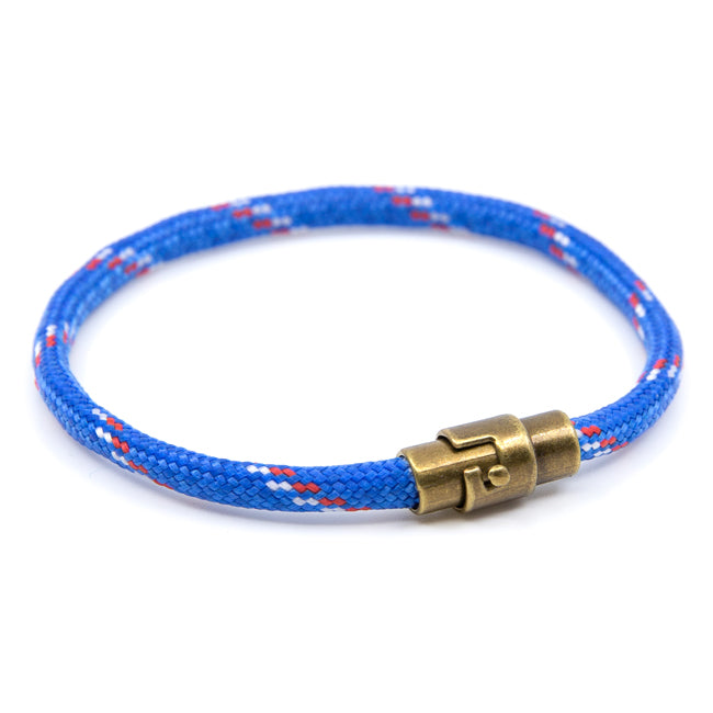 BasicMIA Handmade Blue Single Wrap Paracord Rope Bracelet