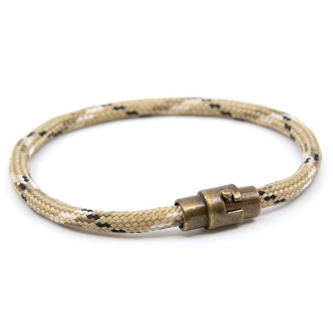 BasicMIA Handmade Gold Single Wrap Paracord Rope Bracelet