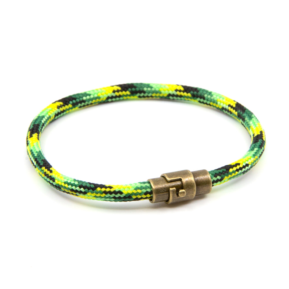 BasicMIA's Handmade Green Single Wrap Paracord Rope Bracelet