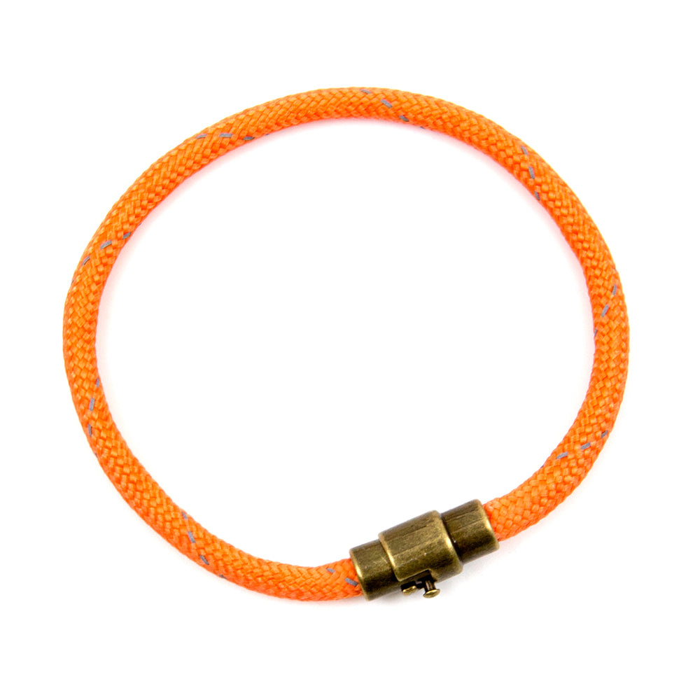 BasicMIA's Handmade Orange Single Wrap Paracord Rope Bracelet