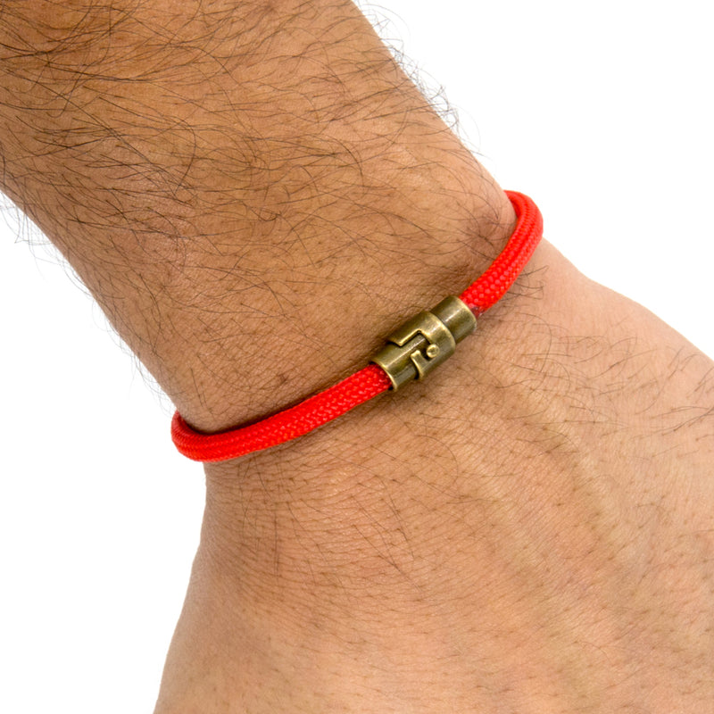 BasicMIA's Handmade Red Single Wrap Paracord Rope Bracelet