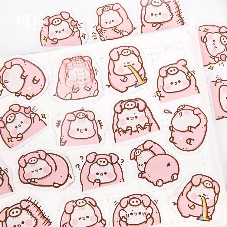 Stickers Cerdito Set