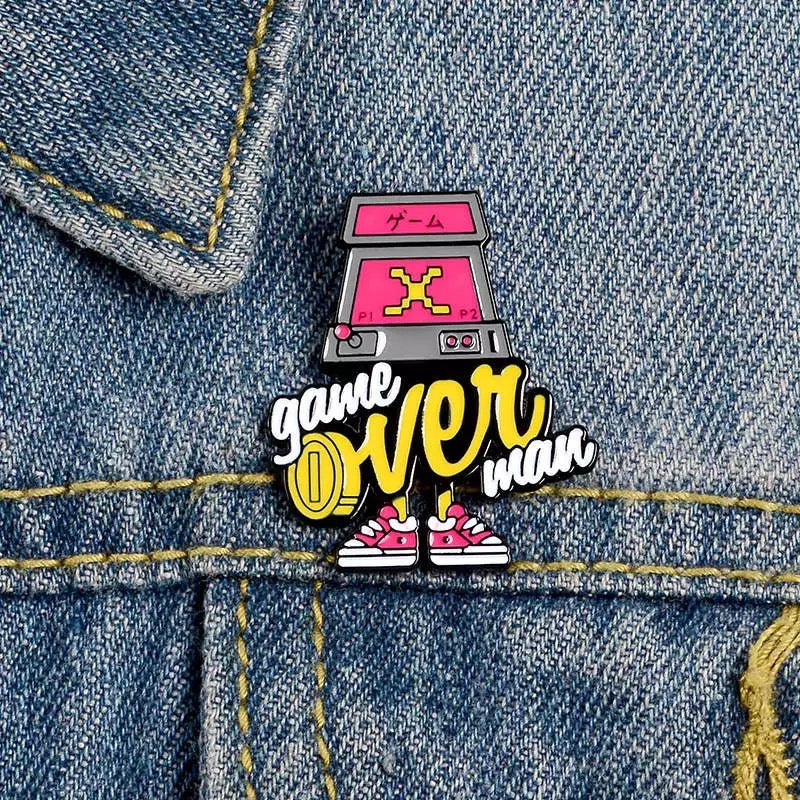 Pins Game Over Man