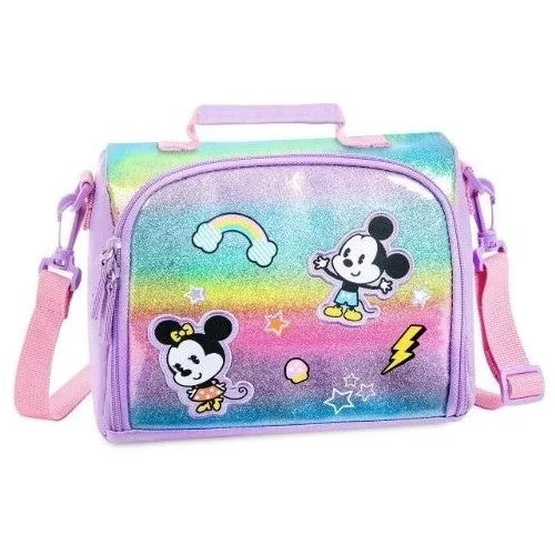 Mochila Lonchera Mickey y Minnie Mouse