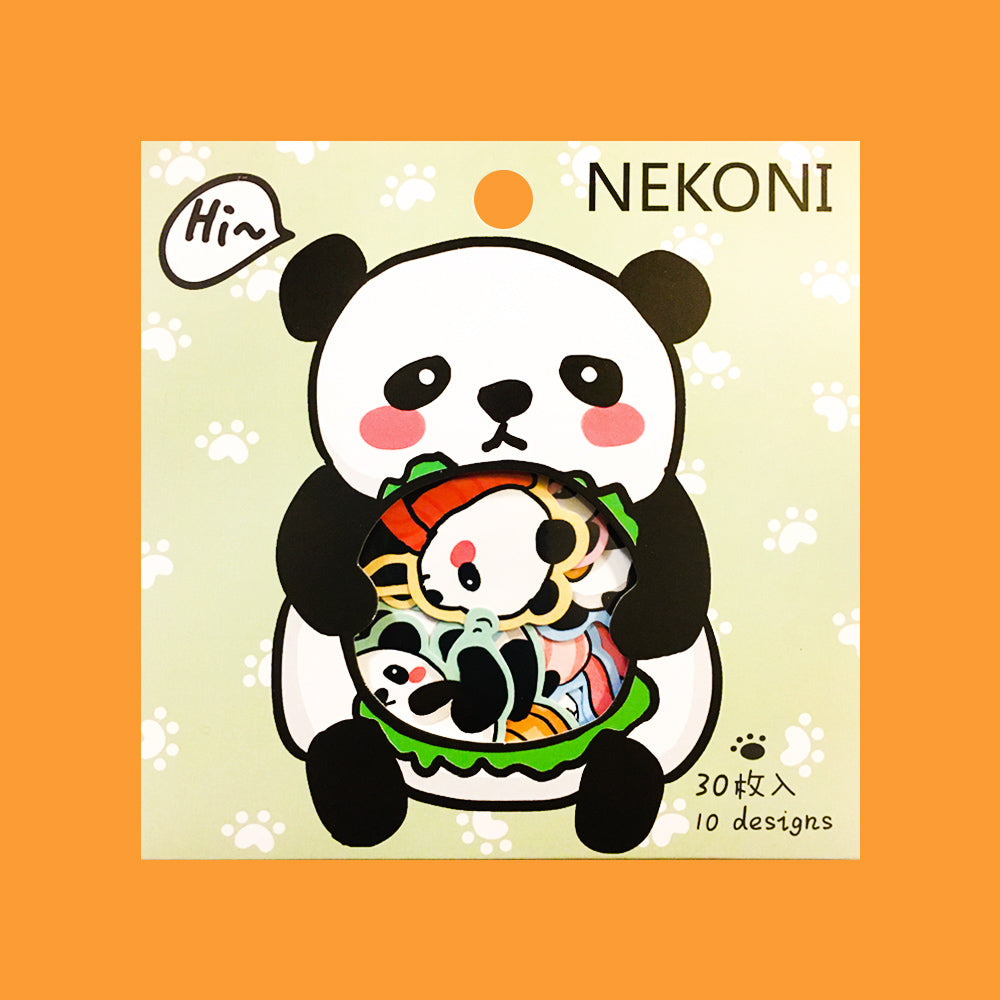 Stickers Panda Nekoni