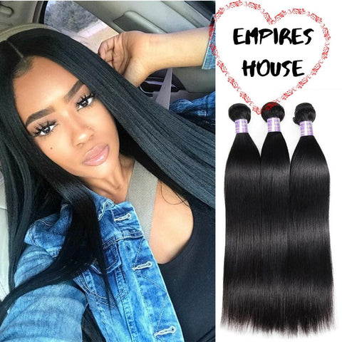 Peruvian 100% Human Hair Straight Bundles Unprocessed - Empires Wig House