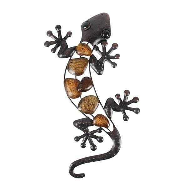 Amber Gecko Metal Wall Art