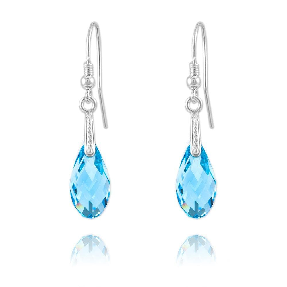 Silver Aquamarine  Earrings