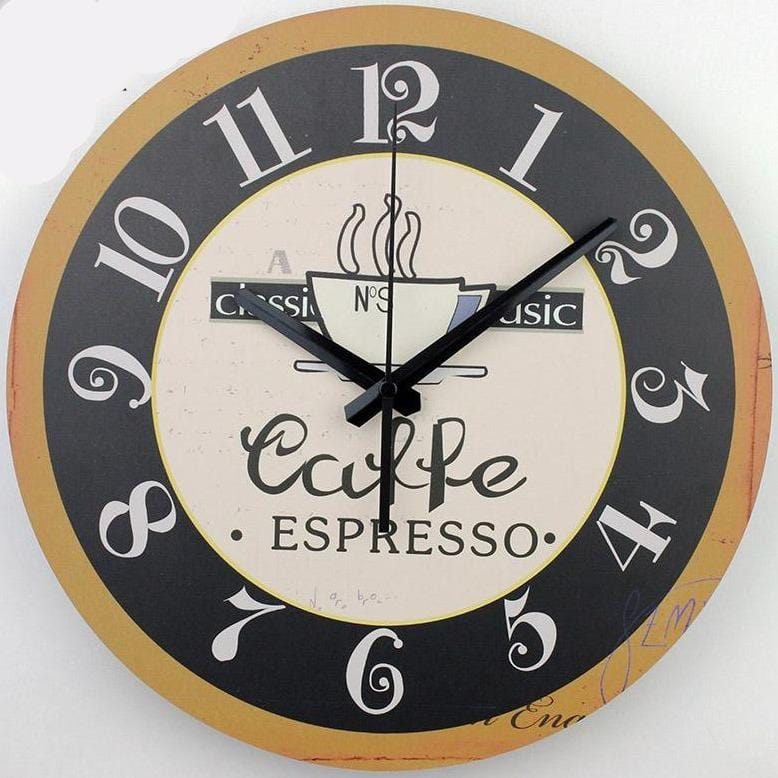 Vintage Coffee Silent Wall Clock