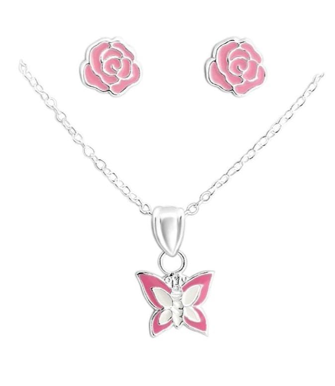 Sterling Silver Kids Jewellery Set for Girls